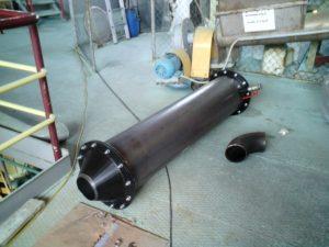 izdelan cevni izmenjevalnik za hlajenje zraka iz industrijskega kompresorja velikega pretoka