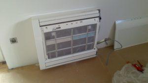 primer montaže talne klimatske naprave